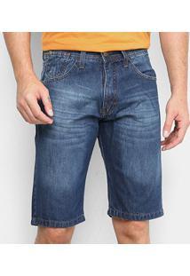 Bermuda Jeans Hd Crumple Masculina - Masculino-Azul