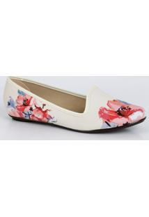 Sapatilha Feminina Slipper Floral Moleca 5291323