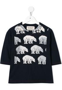 Go To Hollywood Blusa Ampla Com Urso Polar - Azul