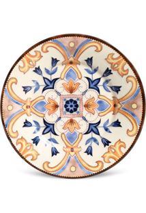 Prato Sobremesa Mônaco Esmirna Cerâmica 6 Peças Porto Brasil