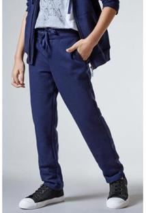 Calça Mini Sm Moletom Reativo Infantil Reserva Mini Masculina - Masculino-Azul Escuro