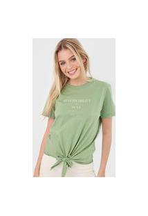 Camiseta Colcci Sustainability Verde