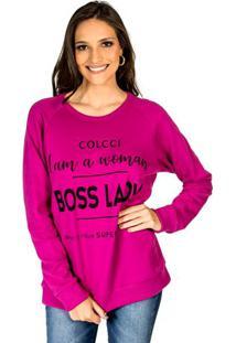 Blusão Moletom Boss Lady Colcci