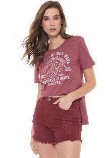 Camiseta Cavalera Mullet New Wave Vinho