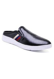 Sapato Masculino Sandro Moscoloni Mule Home Comfort Preto