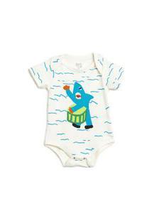 Body Bebê Silk Tubarão Off White - Pp