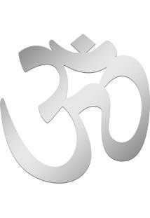 Espelho Decorativo Acrilize Om Yoga Prata