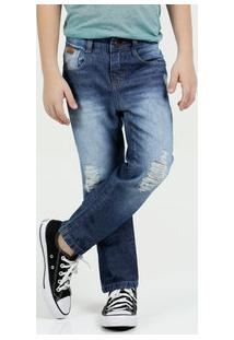 Calça Infantil Jeans Puídos Marisa
