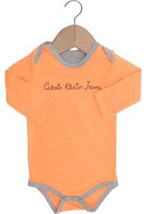 Body Calvin Klein Kids Baby Menina Laranja