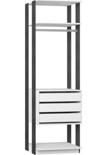 Guarda-Roupa Modulado Clothes I 3 Gv Branco E Expresso