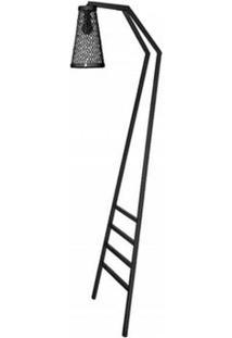Luminaria Revisteiro Sampa Com Estrutura Em Tubo Redondo Cor Preto 1,70 Mt (Alt) - 53602 Sun House