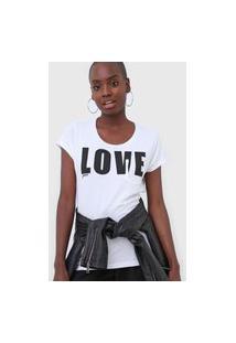 Camiseta Guess Love Branca