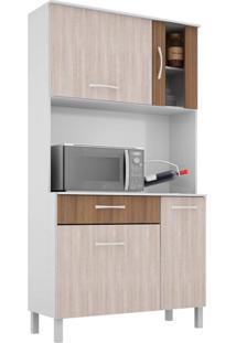 Cozinha Compacta Viena 4 Pt 1 Gv Branco E Elmo 91Cm