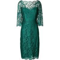 a908cd910 Farfetch. Rhea Costa Vestido Midi De Renda Floral - Verde