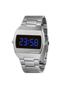 Relógio Masculino Digital Prata Lince - Mdm4621L Dxsx Prata