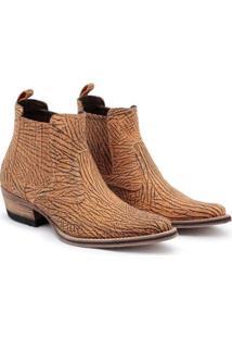 Bota Top Franca Shoes Country Masculino - Masculino-Caramelo