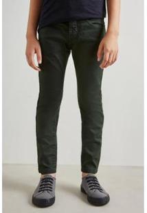 Calca Mini Pf Skinny Color Inv19 Reserva Mini - Masculino-Verde Escuro