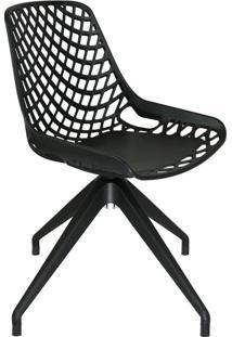 Cadeira De Cozinha Giratória Beau Design Preta