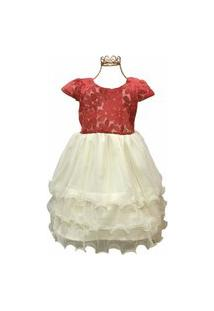 Vestido Brubella Renda Lurex C/ Tule
