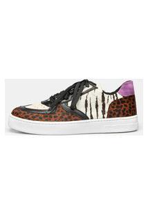 Sneaker S904 - Cheeta Caramelo & Snow Tiger 39 Marrom
