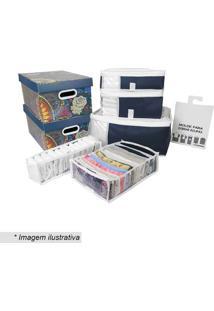 Conjunto De Organizadores- Incolor & Azul Escuro- 8Pboxmania