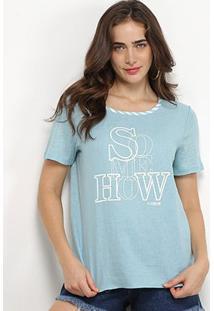 Camiseta Forum Linho Somehow Feminina - Feminino