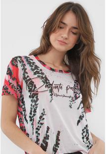 Camiseta Coca-Cola Jeans Tule Estampada Branca - Branco - Feminino - Poliã©Ster - Dafiti