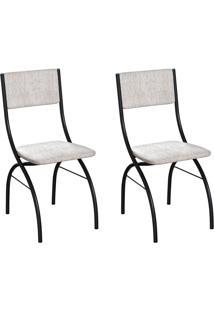 Conjunto Com 2 Cadeiras Dubbo Palha E Preto