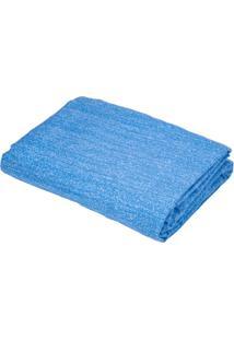 Lençol Teka Queen Com Elástico Jeans Azul