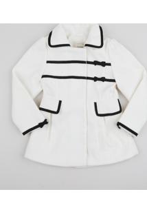 Jaqueta Infantil Com Recortes E Laços Branca