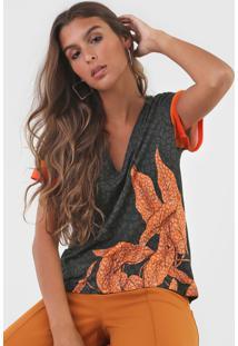 Camiseta Forum Estampada Verde/Laranja - Kanui