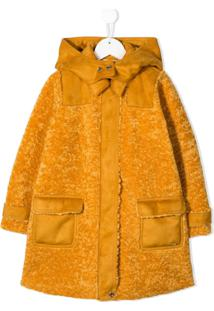 Twin-Set Kids Hooded Faux-Fur Coat - Amarelo