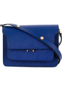 fc54f5618 Marni Bolsa Tiracolo 'Trunk' De Couro - Azul
