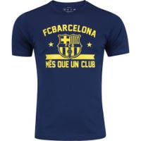 Camiseta Barcelona Barça Estrela - Masculina - Azul Escuro 9fde7af8944fa