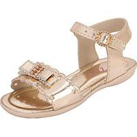 4e0328504 Sandália Bebê Plis Calçados Coração Feminina - Feminino-Dourado
