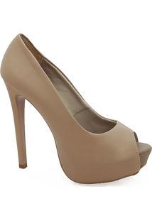 Sapato Peep Toe Feminino De Salto Alto - Feminino