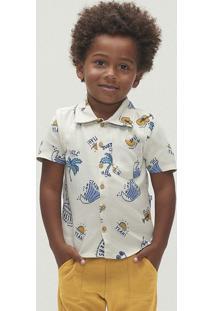Camisa Manga Curta Menino Em Tecido De Viscose Toddler