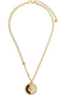 Versace Colar Medusa Com Aplicações - Dourado