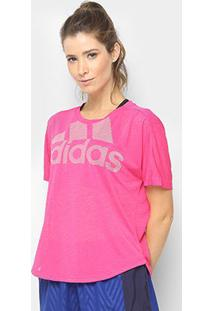 Camiseta Adidas Magic Logo Feminina - Feminino-Rosa