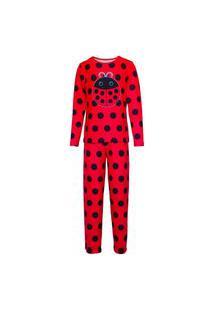 Pijama Menino Manga Longa E Calça Isabb Joaninha Vermelha
