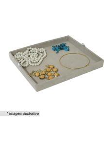 Bandeja Organizadora Para Colares- Cinza- 3,5X31X26Cembox