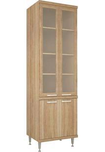 Paneleiro Duplo 4 Portas Com Moldura De Vidro – Multimóveis - Argila