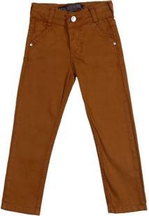 Calça Jeans Infantil Para Menino - Caramelo