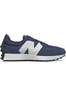 Tênis New Balance 327 Casual Masculino - Masculino-Azul+Branco