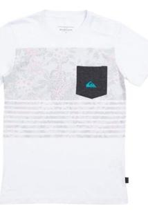 Camiseta Infantil Quiksilver Silent Fury - Masculino-Branco