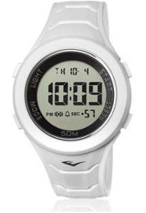 Relógio Everlast Digital Unissex Cx E Pulseira Silicone - Unissex-Branco
