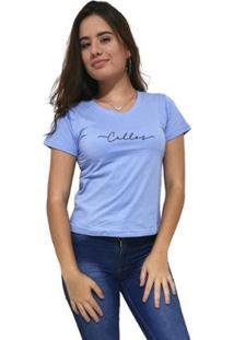 Camiseta Gola V Cellos Stretched Premium Feminina - Feminino