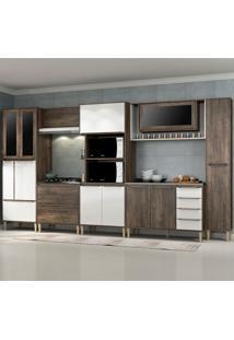 Cozinha Compacta C/Tampo Allure08 – Fellicci - Naturalle / Branco