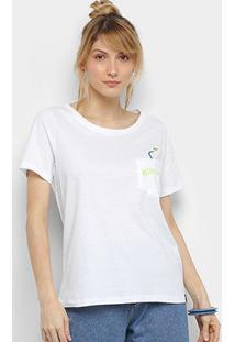 Camiseta Cantão Messy Hair Feminina - Feminino-Branco