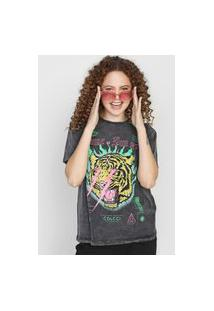 Camiseta Colcci Come As You Are Grafite